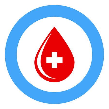 world diabetes day banner - a drop of blood in a blue circle
