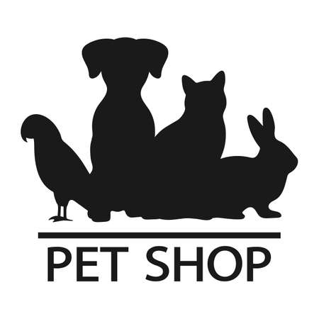 emblem for pet shop, veterinary clinic, animal shelter Ilustracja