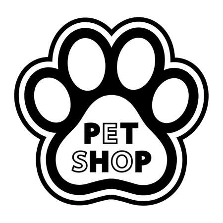 illustration of Pet Shop  Design For business on white background Vectores