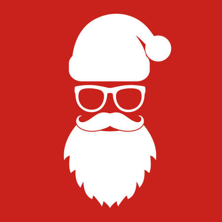 Illustration of Santa Claus avatar.Happy New Year and Merry Christmas.