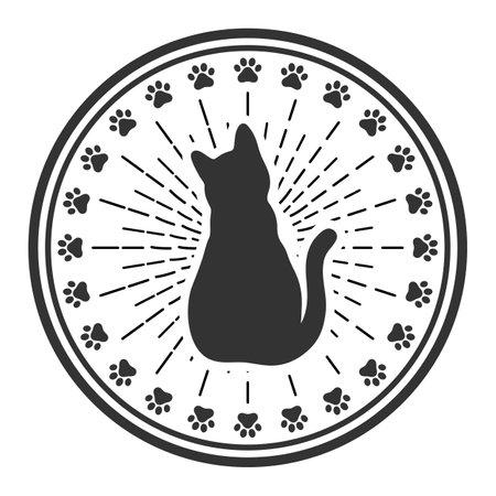 illustration of Cat logotype. Pet shop concept. Pet care concept. Illustration