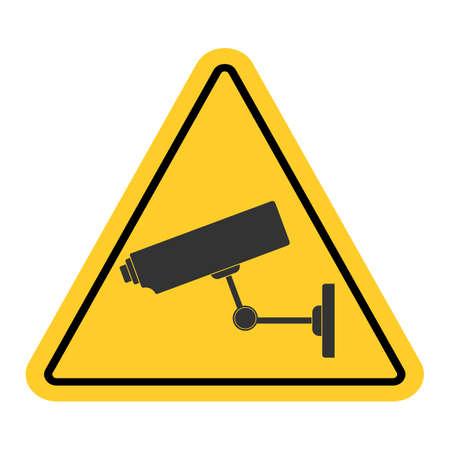 illustration of cctv camera on white background Vector Illustration