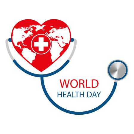 Illustration of world health day design concept on white Illusztráció