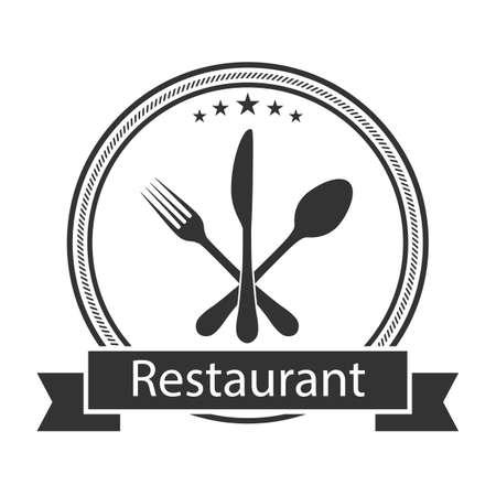 Illustration   of restaurant business on a white background Illusztráció