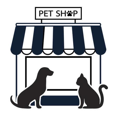 Pet shop illustration for pets on white background Illusztráció