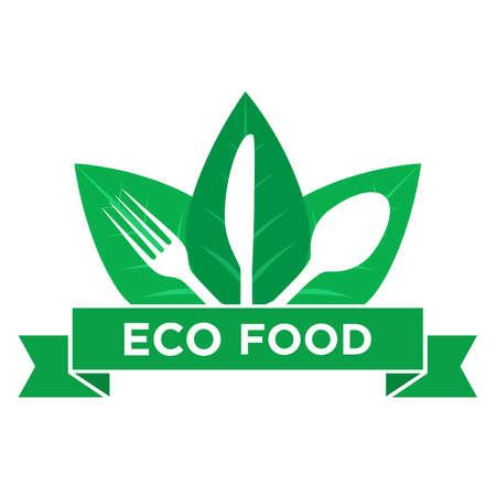 Vegetarian Logo Template, restaurant logo, natural food Logo