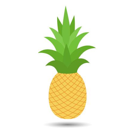 Sweet yellow tropical fruit pineapple Illusztráció