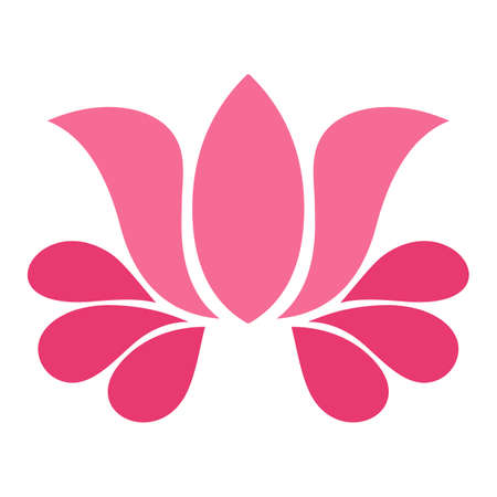 Abstract pink lotus flower on white background