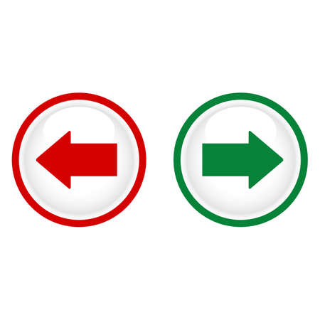 Illustration of green and red arrows in opposite directions in a circle Illusztráció