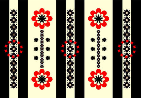 pattern ornament vertical on yellow and black background