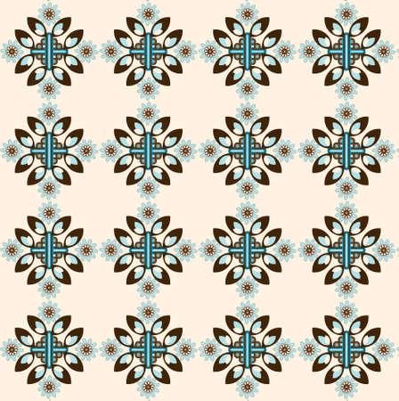 biege: flower decorative seamless texture on biege background