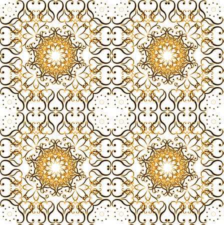 flower pattern seamless texture on white background Illustration