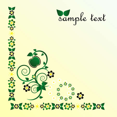framework with flower and curl Stock Vector - 9717005