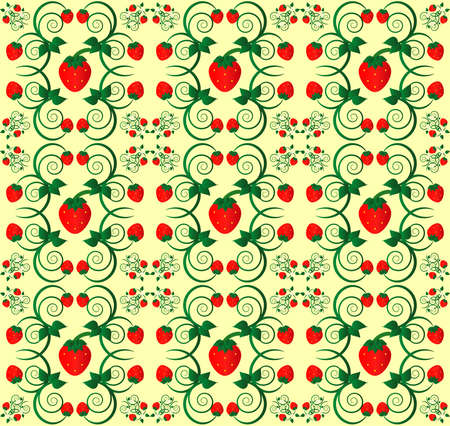 pattern with curl and flower seamless texture Vector