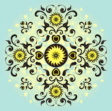 pattern with flower and heart