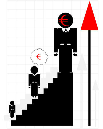 career growth Stock Vector - 9920998