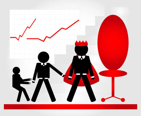 career growth in office Stock Vector - 9921356