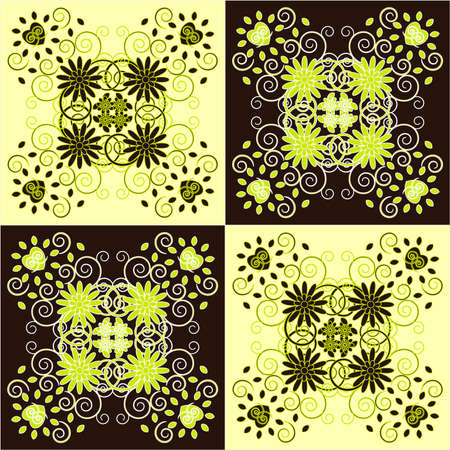 decorative square background with flower Illustration