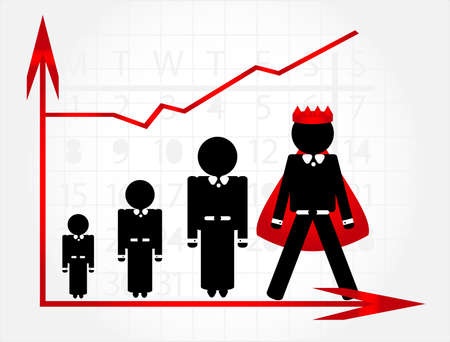 career growth with graphic Stock Vector - 10034309