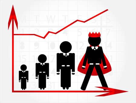 carrière groei met grafische