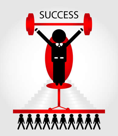 success man on chair with people Stock Vector - 10108158