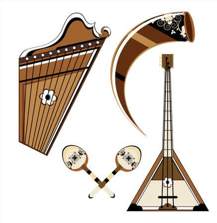 musical instrument on white background Illustration