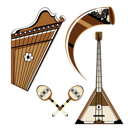 musical instrument on white background Illustration