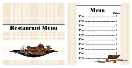 restaurant menu design witn vegetables Stock Vector - 12497226