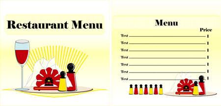 turn table: menu restaurant colored design