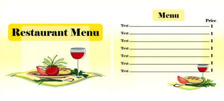 menu restaurant design with vegetables Stock Vector - 12825439