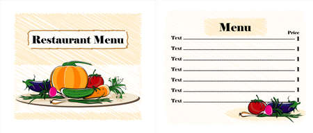 menu restaurant design with vegetables Stock Vector - 12825448