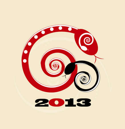snake new year card 2013 Vector