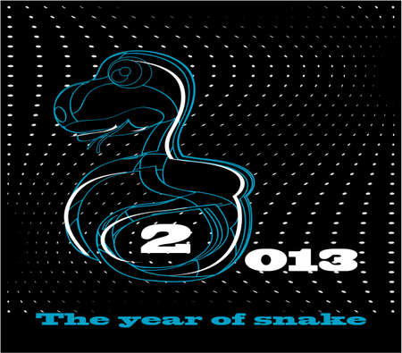 snake new year card 2013 Stock Vector - 15363495