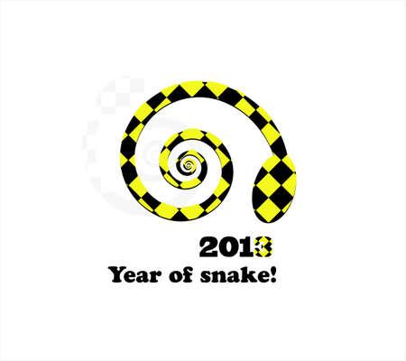 snake new year card 2013 Vector