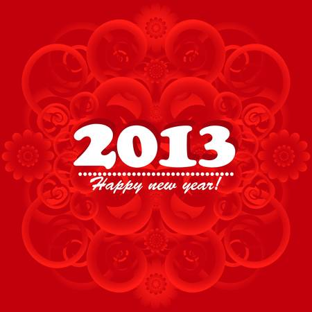 new year card 2013 Vector