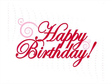 happy birthday  vector illustration