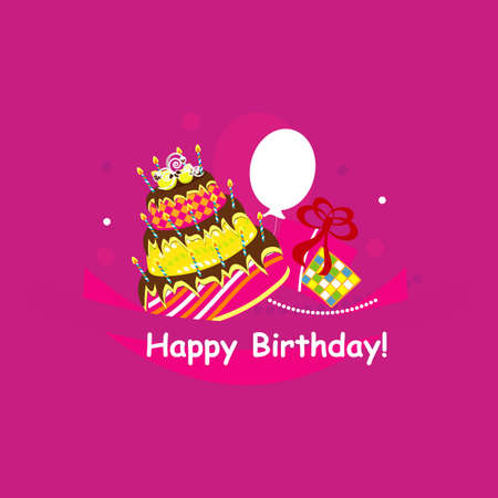 happy birthday  vector illustration  Stock Vector - 17469336