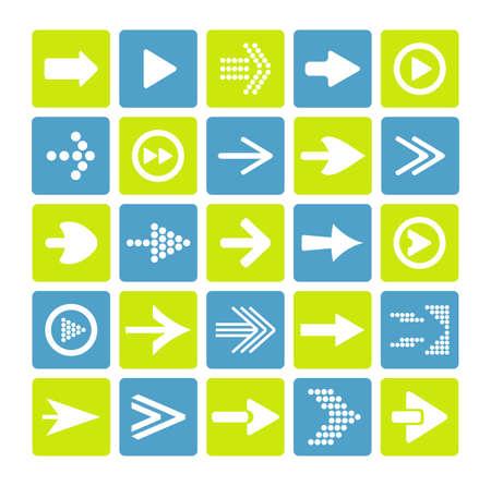 score under: arrow sign icon set