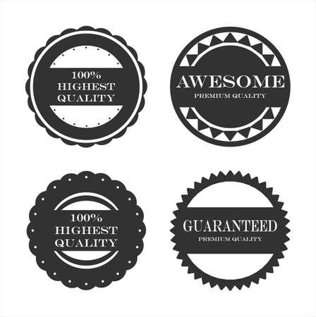 premium quality and guarantee labels