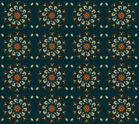pattern with flower seamless texture Illustration