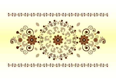pattern with flower horizontal