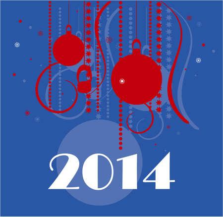 happy new year 2014 Illustration
