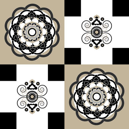 background with pattern and curl