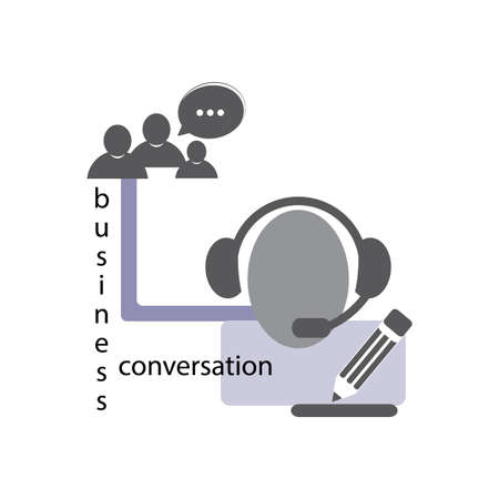 group of people talking on the phone  Illustration