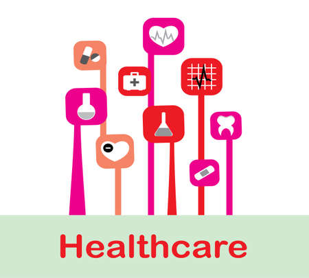 abstract medicine background with  icons Vector