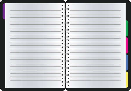 blank realistic spiral notepad notebook isolated vector (eps 10)