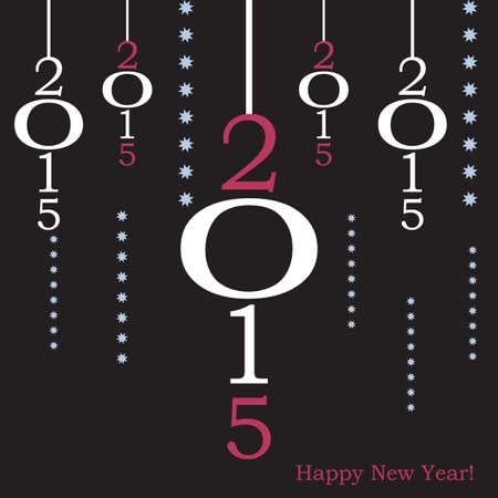 2015 greeting card flat design vector illustration