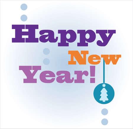 happy new year card, vector (eps 10)