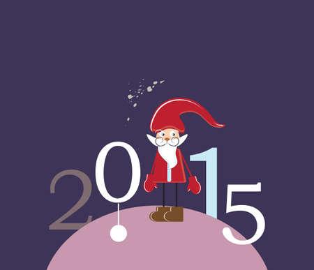 santa claus 2015 card vector (eps 10)