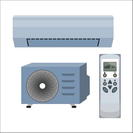 Air conditioner system illustration. Иллюстрация